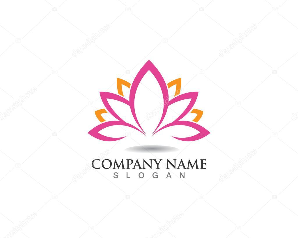depositphotos 103668534 stock illustration lotus flower logo spa